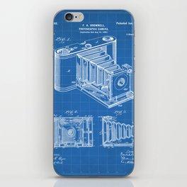 Folding Camera Patent - Photography Art - Blueprint iPhone Skin