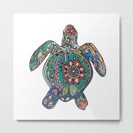 art colour crocodile new love hot 2018 pattern s6 flower Metal Print