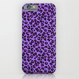 Bright Purple Leopard Spots Animal Print Pattern iPhone Case