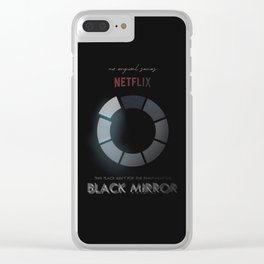 Black Mirror, minimalist tv series poster, alternative movie print, netflix Clear iPhone Case
