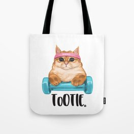 """ToOtie Bunface """"I'm Sa Cathletic"""" Goodies Tote Bag"""