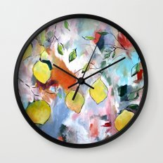When Life Gives You Lemons, Paint Them Wall Clock