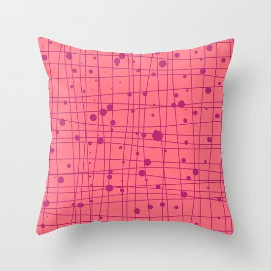 Woven Web pink Throw Pillow