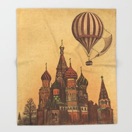 Moving to Moscow Throw Blanket