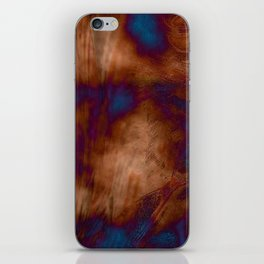Brown vibration iPhone Skin