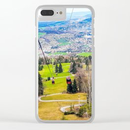 Traveling Up the Mountain Clear iPhone Case