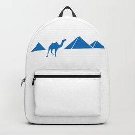 Egyptian Pyramids & Camel Silhouette Backpack