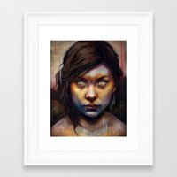 woman Framed Art Prints featuring Una by Michael Shapcott