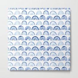 Blue watercolor vibes Metal Print