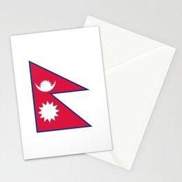 Nepal Flag Nepalese Nepali Triangle Flag Stationery Cards