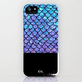 Purples & Blues Mermaid scales iPhone Case