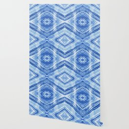 Abstract Marble - Denim Blue Wallpaper