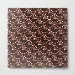 Precious Shimmering Copper Scales Metal Print