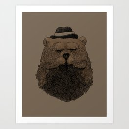 Grizzly Beard Art Print