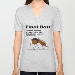 Final Boss - Black Letters Unisex V-Neck