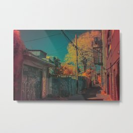 Montreal Alley Infrared 01 Metal Print