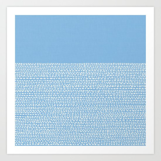 Riverside - Placid Blue Art Print