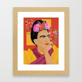 Frida Kahlo - a colorful mind Framed Art Print