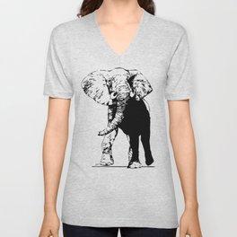 Elephant - M Unisex V-Neck