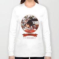 league of legends Long Sleeve T-shirts featuring League Of Legends - Akali by TheDrawingDuo