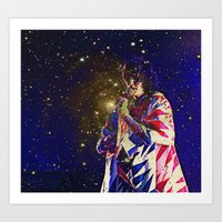 karen hallion Art Prints featuring Karen O by AmelieObscura