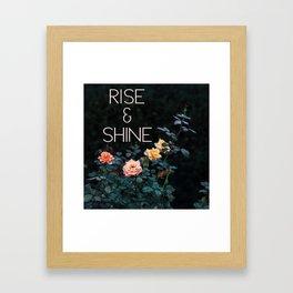 Rise and Shine (Rose) Framed Art Print