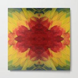 Brazilian Tropical Macaw oil painting digital art Metal Print
