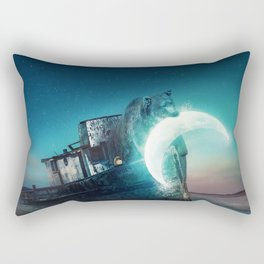 Who stole the moon? Rectangular Pillow