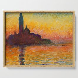 "Claude Monet ""San Giorgio Maggiore at Dusk"" Serving Tray"