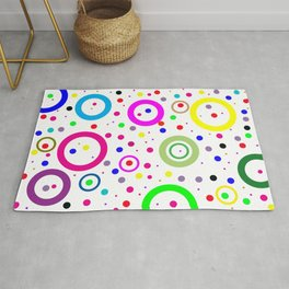 Colorful Circles Abstract Background Rug