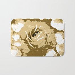 Roses Antique White Bath Mat