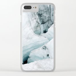 Icelandic Iceberg glacier lagoon travel Clear iPhone Case