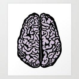Brain (transparent) Art Print