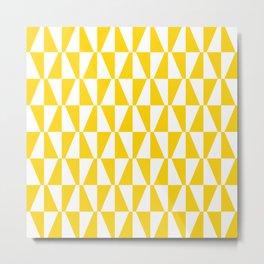 Mid Century Modern Geometric 312 Yellow Metal Print
