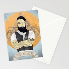 John's Motorcycle Stationery Cards