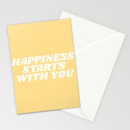 happiness starts with you Stationery Cards
