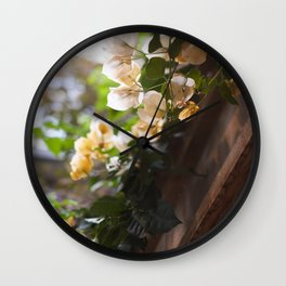 Bougainvillea in the Light Wall Clock