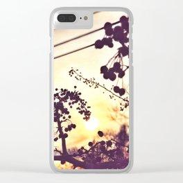 December Sunrise Clear iPhone Case