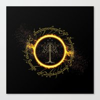 lord of the ring Canvas Prints featuring Lord Of The Ring Circle by Electra