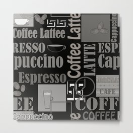 Abstract pattern . Coffee . Metal Print