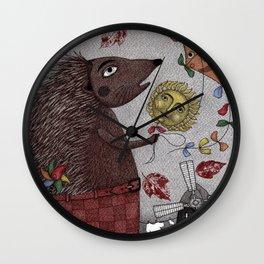 It's a Hedgehog! Wall Clock