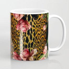 Leopard and Roses Coffee Mug