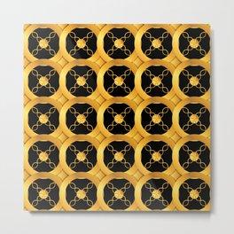 Luxurious Art Deco-Like Pattern: Casino Gold Coins Design Metal Print
