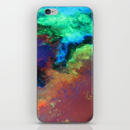 """""""Titan"""" Mixed media on canvas, abstract art painting designs, contemporary artist colorful design iPhone Skin"""