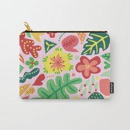 Pink Garden Florals Carry-All Pouch