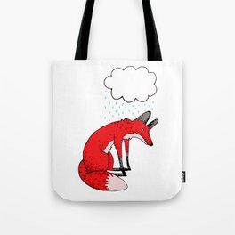 Sad fox Tote Bag