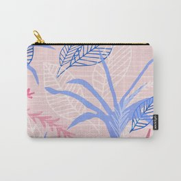 Modernist Flora in Pink and Cobalt Blue Carry-All Pouch