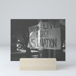 support live music Mini Art Print