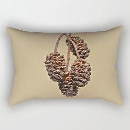 Little pine cones from Alder tree - Minimal Photography Rectangular Pillow