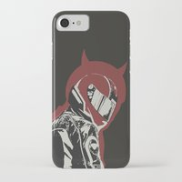 daredevil iPhone & iPod Cases featuring Daredevil by OdhranHampsey